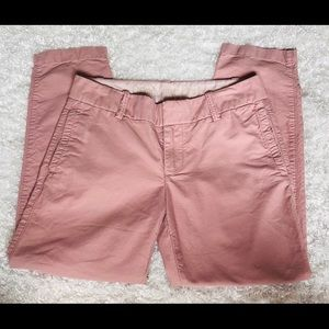 J CREW Oxford Scout Pant City Fit Rose Pink Sz 0